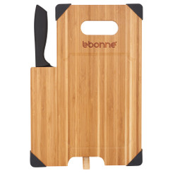 Bamboo Cutting Board with Knife / Planche et couteaux a dcouper# 5262