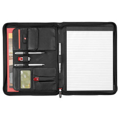 Wenger Exec Leather Zippered Padfolio Bundle Set - Ecritoire padfolio portfolio #5369