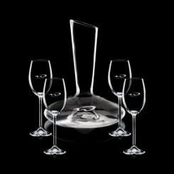 Decanteur en cristal Henkel avec 4 Verres #1352