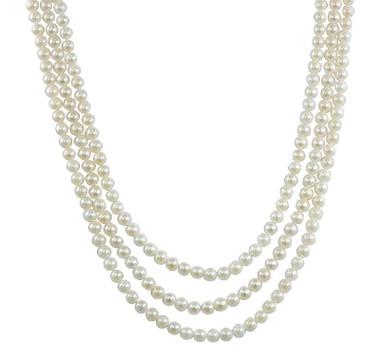 Collier de perles - Pearl necklace  # 5592