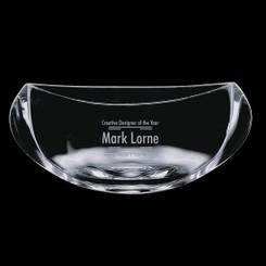 Bol de cristal,  7 pouces, personnalisé avec votre logo #5635
