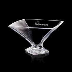 Bol de cristal,  12.75 pouces, personnalisé avec votre logo #5652