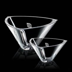 Bol de cristal,  9.75 pouces, personnalisé avec votre logo #5654