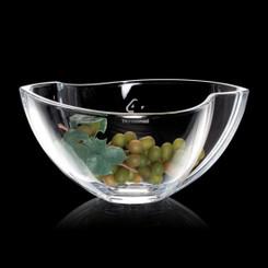 Bol de cristal,  11.5 pouces, personnalisé avec votre logo #5655