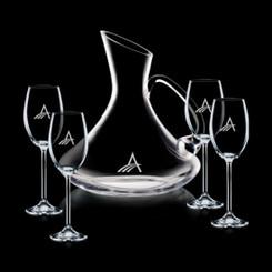 Decanteur en cristal Bearden avec 4 Verres #1358