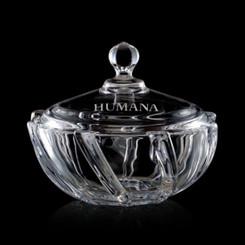 Bonbonniere en cristal, personnalisée avec votre logo  #5677