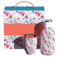 Ensemble de bouteille et verre dans une boite cadeau, personnalisée avec votre logo  #5684