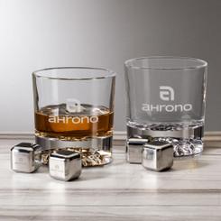 Ensemble de 2 verres et cubes en inox réutilisables # 5790