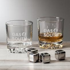 Ensemble de 2 verres et cubes en inox réutilisables # 5794