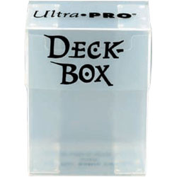 Ultra Pro - Clear / Translucent / Whiteish - Deckbox