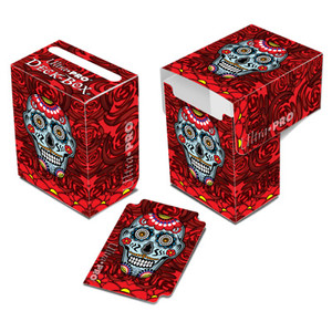 Ultra Pro - Dia De Los Muertos - Red BG Sugar Skull - Deckbox