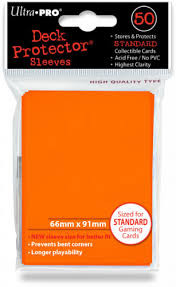 Ultra Pro Card Sleeves- Orange 50ct