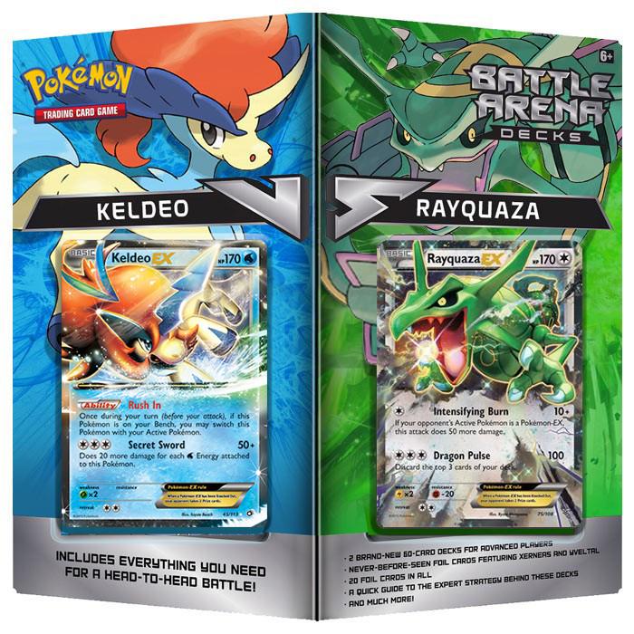Pokemon TCG- Battle Arena Decks- Keldeo and Rayquaza