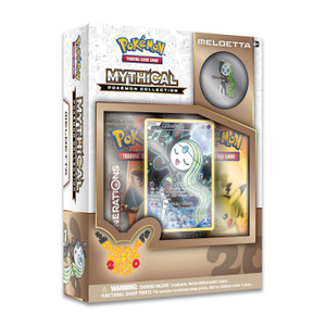 Mythical Pokemon Meloetta Collection - Includes 2x Generations Booster Packs
