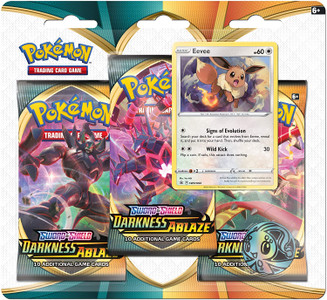 Pokemon TCG Sword & Shield - Darkness Ablaze 3-Booster Blister Pack - Eevee