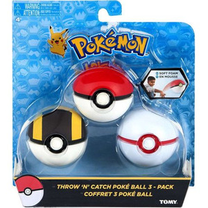 Pokemon Throw N Catch Poke Balls 3ct Pack