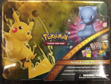 Pokemon TCG 2017 Holiday Treasure Chest Lunch Box Pikachu & Mew Shining Legends