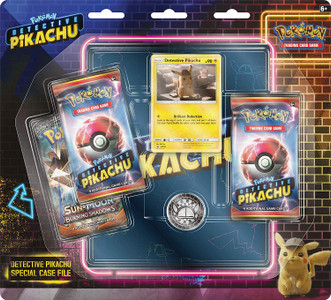 Pokemon Detective Pikachu Special Case File TCG: 3 Booster Pack | Movie Binder, Multicolor