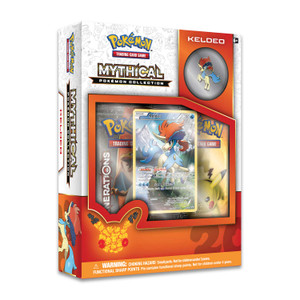 Pokémon TCG: Mythical Pokémon Keldeo Collection—Includes 2x Generations Booster Packs