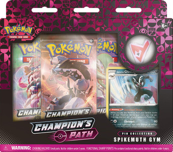 Pokémon TCG: Champion's Path Pin Collection Spikemuth Gym Featuring Galarian Obstagoon