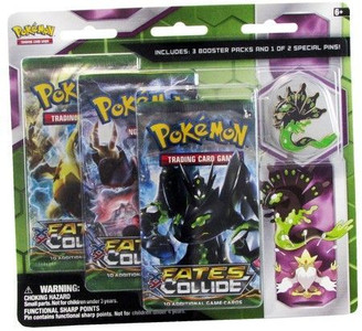 POKEMON TCG: XY Fates Collide 3-Pack Blister Pack w/ Zygarde Pin