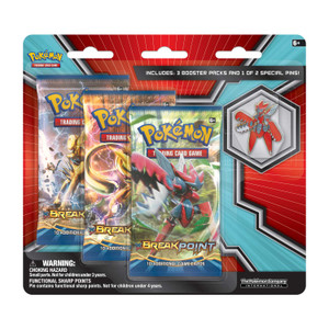 Pokémon TCG: 3 Booster Packs with Mega Scizor Collector's Pin