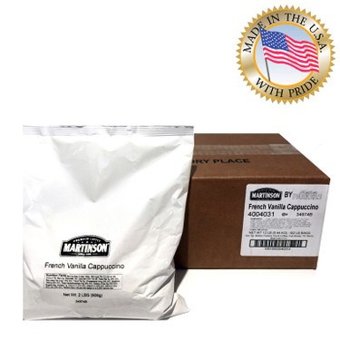 Martinson French Vanilla Instant Cappuccino Mix 2 Lb