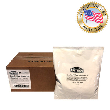 Martinson English Toffee Instant Cappuccino 2 Lb