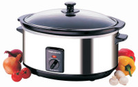 Morphy Richards ovale en acier inoxydable 48715 Slow Cooker