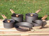 Fonderie de Netherton Fonte 5 morceau ensemble Pan