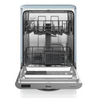 Swan7040SDW BLN Retro lave-vaisselle en bleu