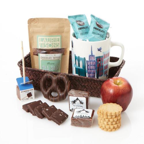 New York Skyline Gift Basket