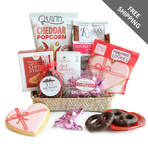 Gourmet gift basket full of sweet and savory treats and chocolate too!