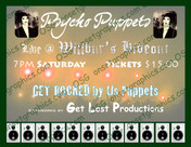 Pycho Puppets Band Flyer