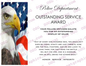 Police Department Outstanding Service Award
