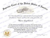 Generic Supreme Court Certificate