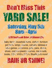 Yard Sale 2 Flyer