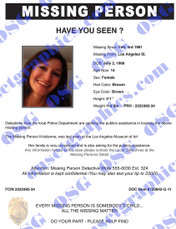 MISSING PERSON 12