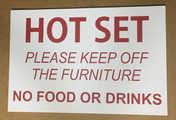 HOT SET SIGN