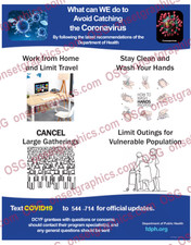 Avoid Catching Corona Virus Covid-19 Poster