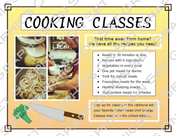 Cooking Class Flyer