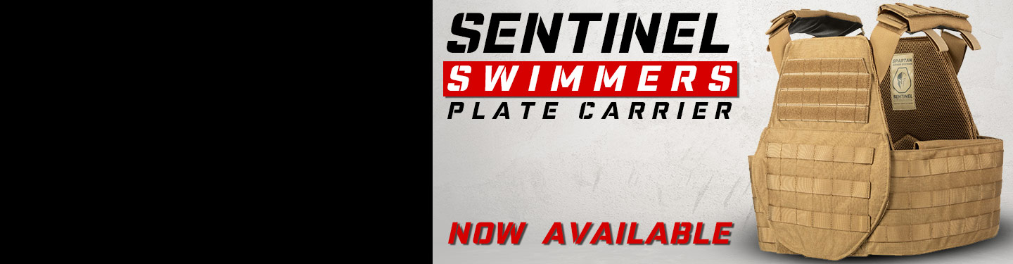 Sentinel swimmers cut body armor plate carrier.