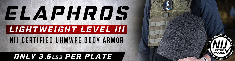 Lightweight body armor - Elaphros level III NIJ certified