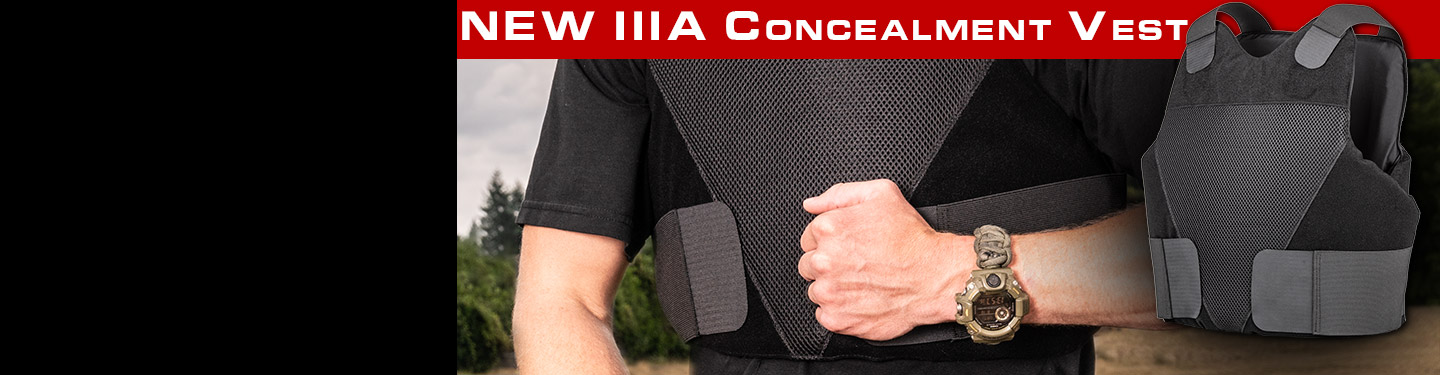 IIIA body armor wrap around concealment vest