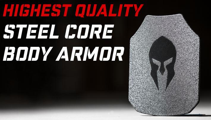 AR500, AR550 and AR650 steel core body armor