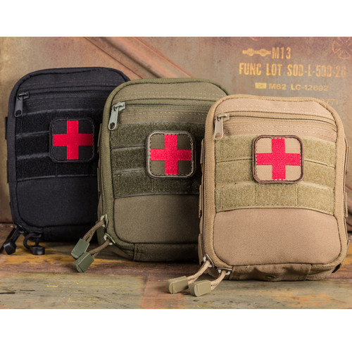 Spartan Armor Systems individual first aid kit for stoping traumatic bleeding.