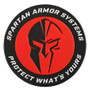 Spartan Armor Systems™ PVC Patch In Red, Black and White