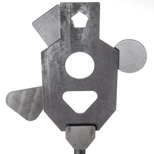 DIY AR500 steel reactive shooting target Triple Tap three stage system The Target Man