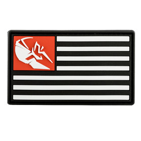 Spartan Armor Black, White and Red PVC Patch American Flag
