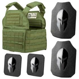 AR550 Body Armor Shooters Cut and Spartan Plate Carrier Entry Level Package
